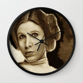 Princess Leia - Homage to Carrie Fisher Wall Clock