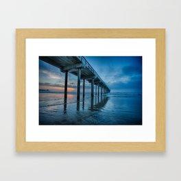 Scripps Pier at sunset Framed Art Print