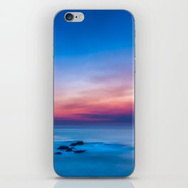 Sunset long exposure over the ocean iPhone Skin