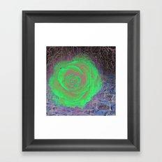 Dark Rose Framed Art Print