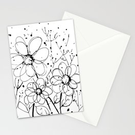 Scribble Doodle Flowers No.7A by Kathy Morton Stanion Stationery Cards