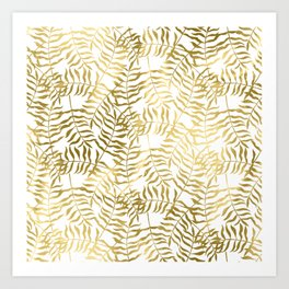 Gold Leaves 1 Art Print