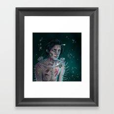 I'm rotting alone  Framed Art Print