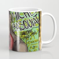 basquiat Mugs featuring Jean-Michel Basquiat by Ibbanez