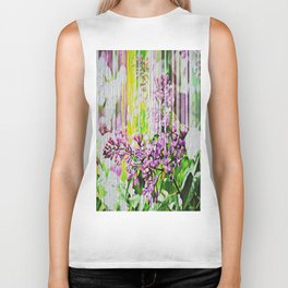 White Washed Painted Lilac Biker Tank