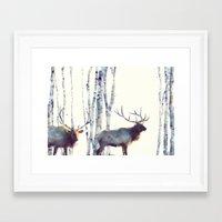 elk Framed Art Prints featuring Elk // Follow by Amy Hamilton