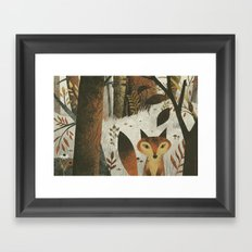 Fox And Trees Framed Art Print