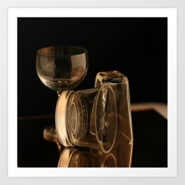Glasses in Gold Tones Art Print