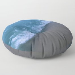 The Wave // Abstract Swash Brush Floor Pillow