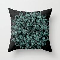 emerald Throw Pillows featuring emerald by Sproot
