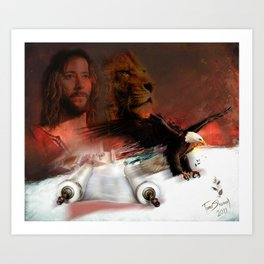 Eagle on Board Art Print