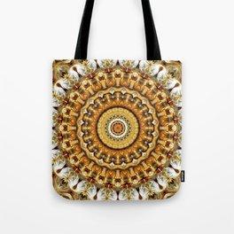 Flower Of Life Mandala (Golden Sunrise) Tote Bag