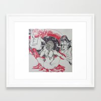 i woke up like this Framed Art Prints featuring i woke up like this  by canislopes