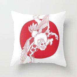 Karasu Tengu Throw Pillow
