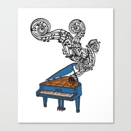 Piano Keys Art Gift - Piano Keyboard Keys Canvas Print