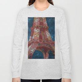 Eiffel Tower by Lu Long Sleeve T-shirt