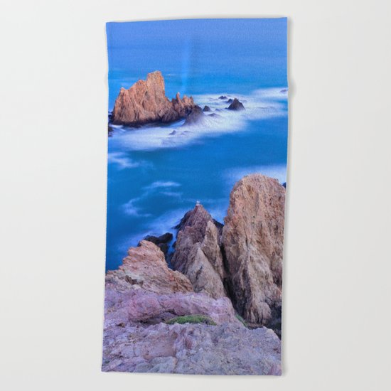 """Sirenas azules. Blue mermaids"" Beach Towel"