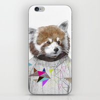 kris tate iPhone & iPod Skins featuring RED PANDA by Jamie Mitchell and Kris Tate by Kris Tate