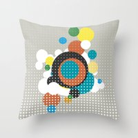 bubbles Throw Pillows featuring bubbles by Heinz Aimer