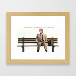Forrest Gump Parody Of Donald Trump Framed Art Print