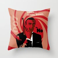 bond Throw Pillows featuring Bond by Nile