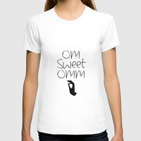 om T-shirts featuring OM by Surya