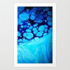Blue Azul Art Print