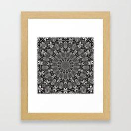 Monochrome Mandala Framed Art Print