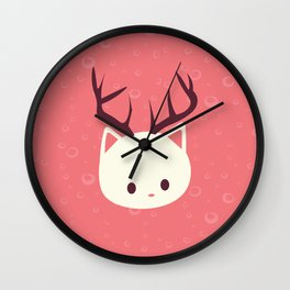 Reindeer Cat Wall Clock