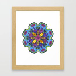 Bejewelled Mandala Framed Art Print