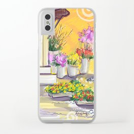 Flower Market Clear iPhone Case