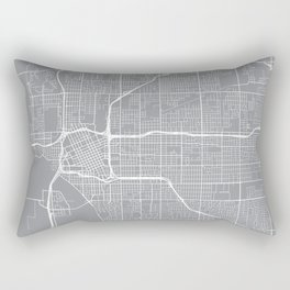 Tulsa Map, Oklahoma USA - Pewter Rectangular Pillow