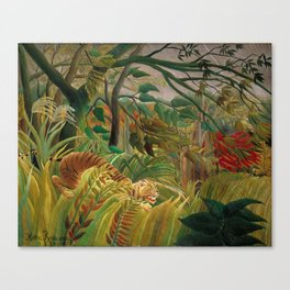 Henri Rousseau - Tiger in a Tropical Storm Canvas Print