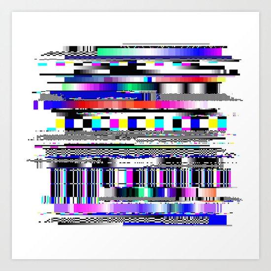 Glitch Ver.1 Art Print