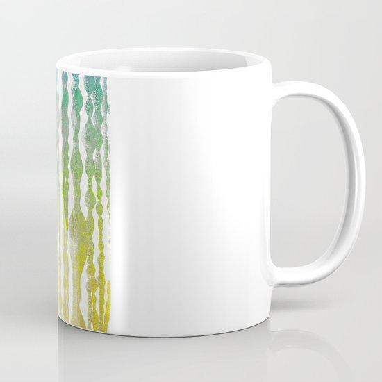 psychedelic stripes - green Mug