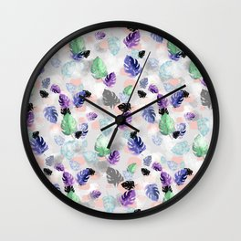 Neo Tropical Wall Clock