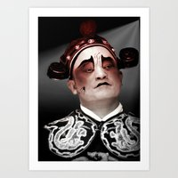 actor Art Prints featuring Chinese opera (Actor Portrait). by Ian Gledhill