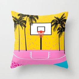 Dope - memphis retro vibes basketball sports athlete 80s throwback vintage style 1980's Throw Pillow
