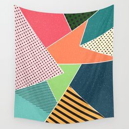 color segments 001 Wall Tapestry