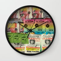 posters Wall Clocks featuring Faux Posters 01 by Irman Hilmi