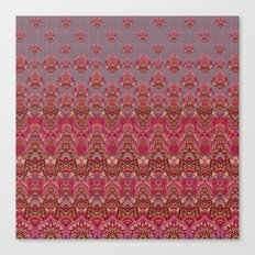 Farah Blooms Red Canvas Print