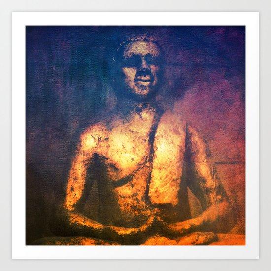 The Golden Buddha II Art Print