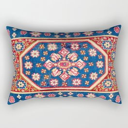 Cuenca Spanish 18th Century Rug Print Rectangular Pillow