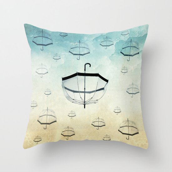 wishing for rain Throw Pillow