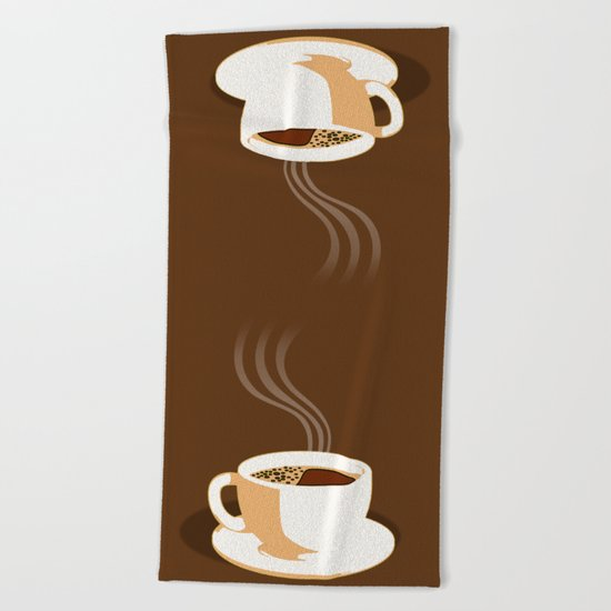 The Perfect Cup Of Coffee Beach Towel