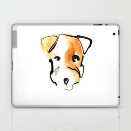 Black Ink and Watercolor Jack Russell Terrier Dog Laptop & iPad Skin