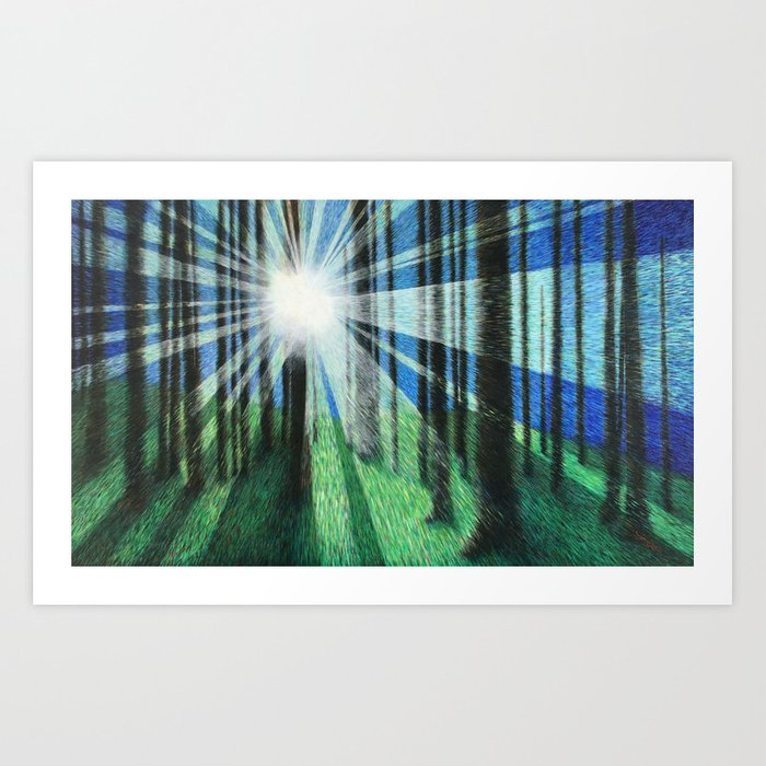 Movement in Color and Light Art Print