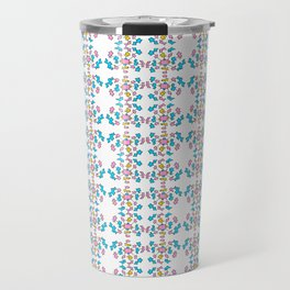 blue abstraction 4 – abstraction,abstract,minimalism,cerulean, bluish,reverie Travel Mug
