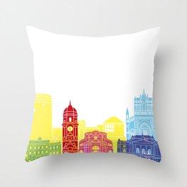 Rijeka skyline pop Throw Pillow