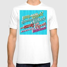 Malayalam Hymn (3D - multiple colors) Mens Fitted Tee White MEDIUM